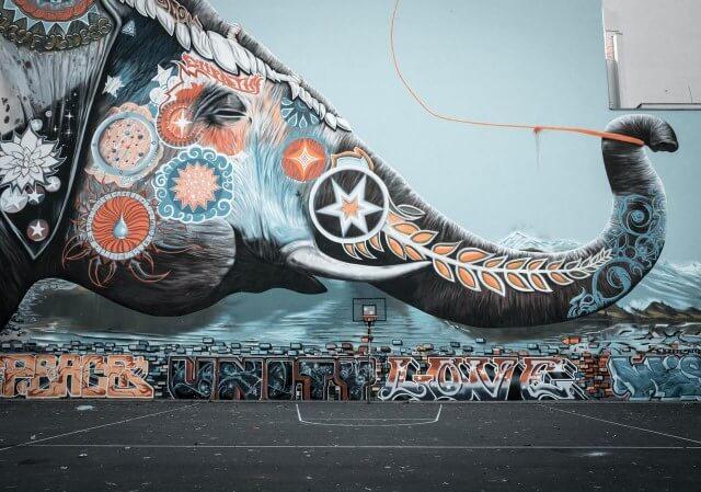 Hedendaagse kunst olifant schilderij